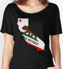 California State Bear Flag (vintage distressed design) Women's Relaxed Fit T-Shirt