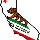 California State Bear Flag (vintage distressed design) by robotface