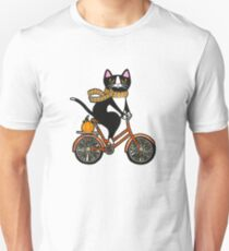 Cat on a Bicycle  Unisex T-Shirt