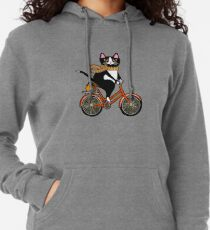 Cat on a Bicycle  Lightweight Hoodie