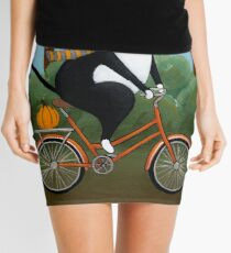 Cat on a Bicycle  Mini Skirt