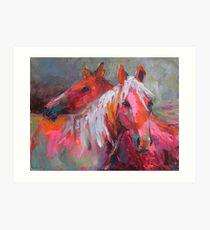 Contemporary Horses Svetlana Novikova Painting Art Print