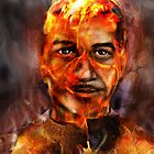 A SMOLDERING SELF PORTRAIT FIRE & BRIMSTONE ! by Ray Jackson
