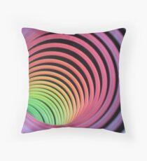 inside a rainbow Throw Pillow