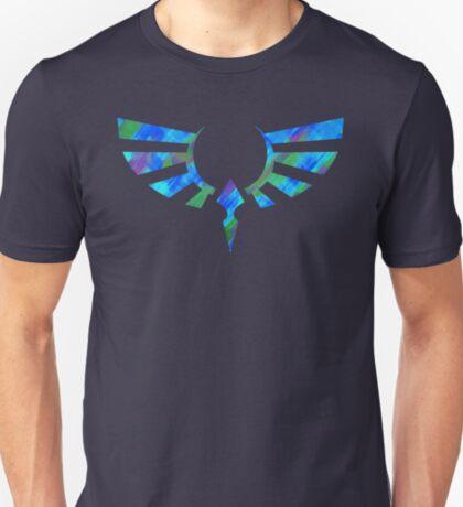 Hylian Crest Paint Blue T-Shirt