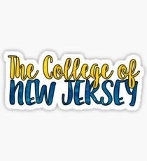 The College of New Jersey Two Tone Sticker