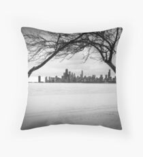 Winter Chicago Throw Pillow