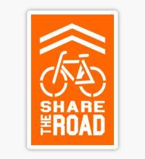 Share the Road Sticker - Orange Version Sticker