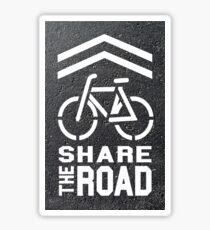 Share the Road Sticker - Blacktop Version Sticker