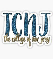 TCNJ Glitter Sticker