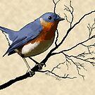 Little Bird Blue by Lee Leplaw Deichmann