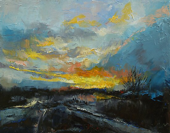 Winter Evening by Michael Creese