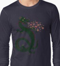 Dragon, Flower Breathing Long Sleeve T-Shirt
