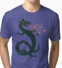Dragon, Flower Breathing Tri-blend T-Shirt