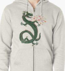 Dragon, Flower Breathing Zipped Hoodie