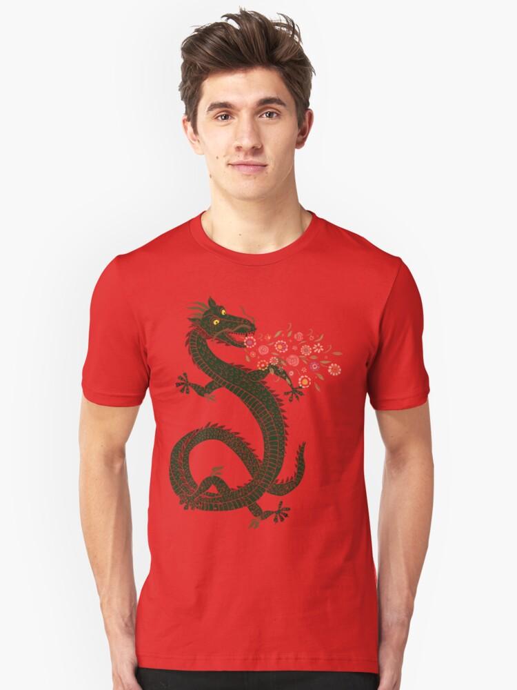 Dragon, Flower Breathing Unisex T-Shirt Front