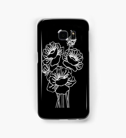Inked Poppies Samsung Galaxy Case/Skin