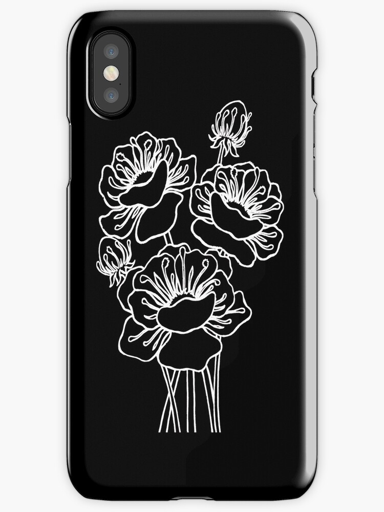 Inked Poppies by Ameda