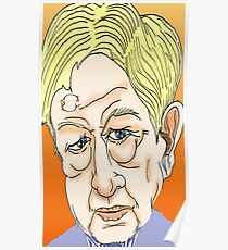 Sandy Gall Cartoon Caricature Poster