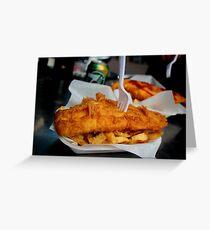 Fish & Chips Greeting Card