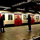 The Train Arrives - Metropolitan Line by rsangsterkelly