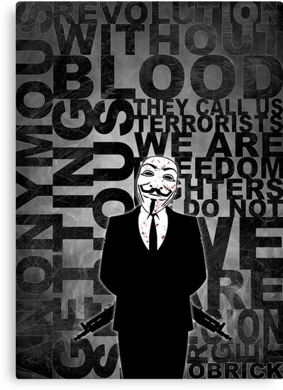Anonymous revolution without blood ? W&B by Shobrick