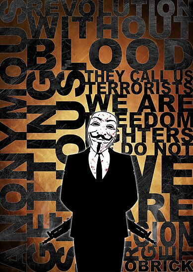 Anonymous revolution without blood ? Gold by Shobrick
