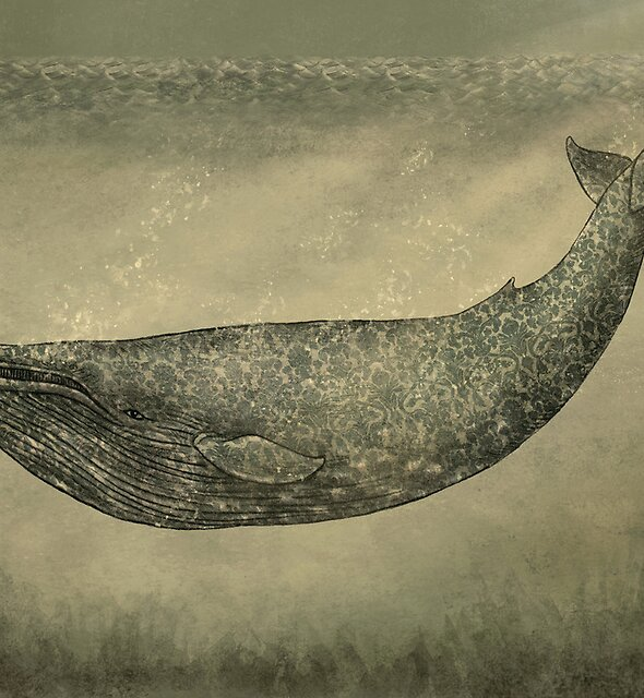 Damask Whale  von Terry  Fan