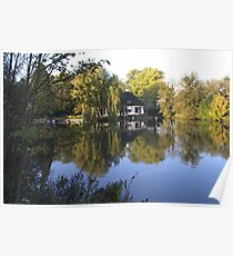 Villa on the Vecht river Poster