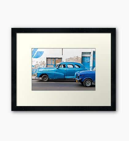 Blue, Blue and Blue Framed Print