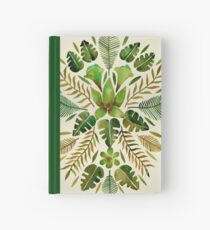 Tropical Symmetry – Olive Green Hardcover Journal