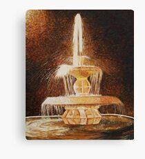 Fountain of light Canvas Print