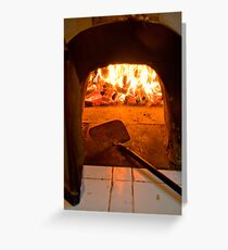 Wood-fired pizza oven at Lotus Cottages in Candidasa, Bali, Indonesia Greeting Card