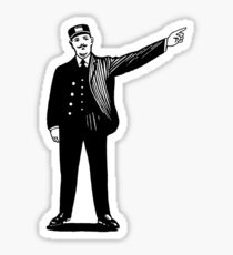 French conductor pointer man Sticker