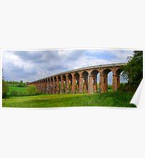Balcombe Viaduct Panorama - HDR Poster