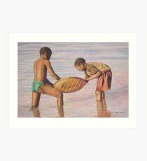 Boys Fishing Art Print