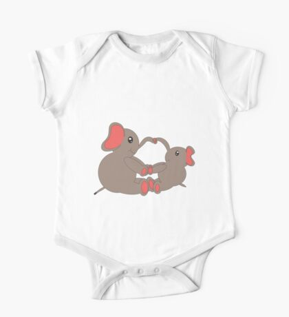 Momma and Baby Elephants Kids Clothes