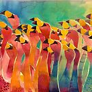 Flamingos by Maja Wrońska