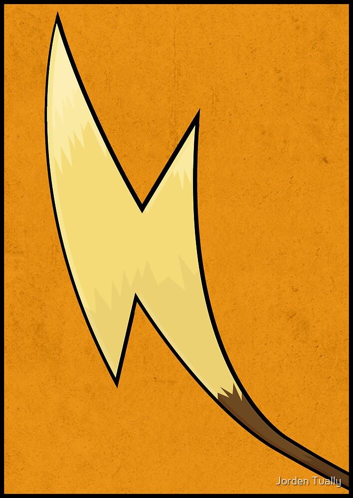 Raichu's Tail - Pokemon Art Poster Minimal by Jorden Tually
