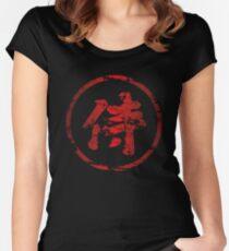 Broken Samurai Kanji (Circle) Women's Fitted Scoop T-Shirt