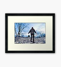 Sweater, Uggs and Shingles Framed Print
