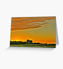 Sunset in ND Greeting Card