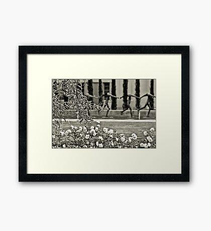 THE GARDEN OF THE GODS. Framed Print