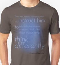 Think differently Unisex T-Shirt