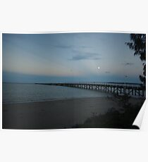 Full Moon over Urangan Pier  Poster
