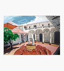 Patio Colonial Photographic Print