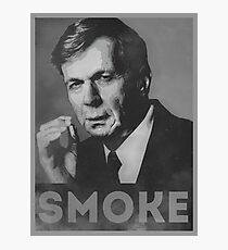 Smoke! Funny Obama Hope Parody (Smoking Man)  Photographic Print