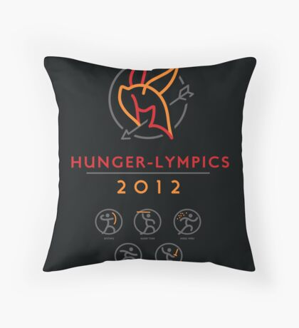 Hunger-lympics - POSTER Throw Pillow