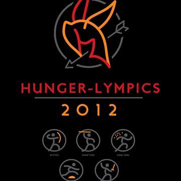 Hunger-lympics - STICKER by WinterArtwork