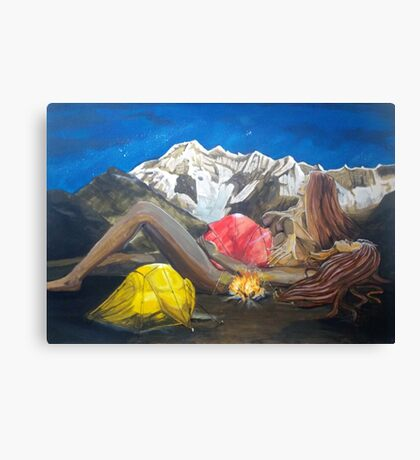 Childbirth Camp Canvas Print